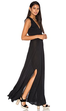 Modal Drape Front Dress in Black