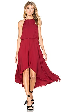 High Neck Dress in Crimson