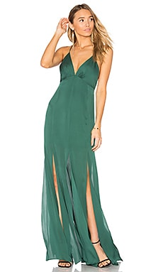 Low Back Fitted Cami Gown in Craig Green
