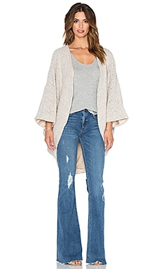 Haute Hippie Chunky Alpaca Cocoon Sweater in Fallen Angel