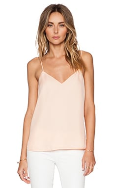 Haute Hippie Cowl Back Camisole in Cream Puff