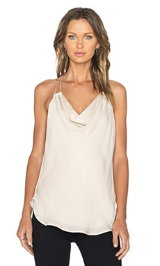 Haute Hippie Cowl Neck Tank in Buff
