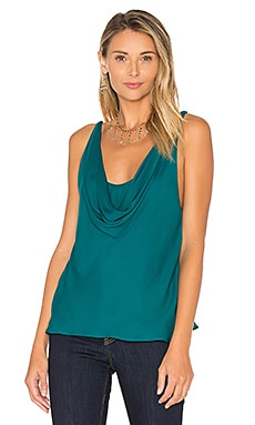 The Morton Cowl Tank in Teal