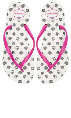 Havaianas Slim Fresh Flip Flop in White Rose