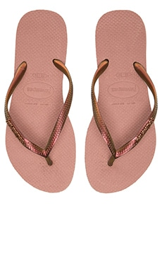 Havaianas Slim Furta Flip Flop in Crocus Rose