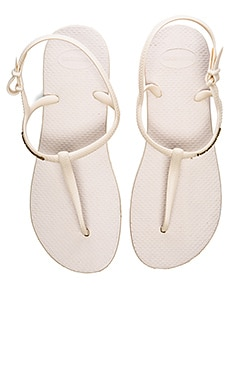 Havaianas Freedom Flip Flop in Beige & Rose