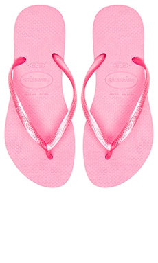 Havaianas Slim Flip Flop in Shocking Pink