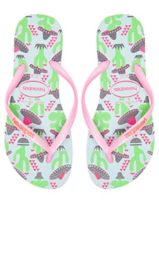 Havaianas Slim Cool Flip Flop in Ice Blue