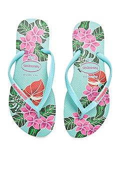 Slim Floral Sandal