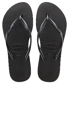 Slim Flip Flop in Black