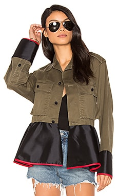 Drab Field Peplum Jacket