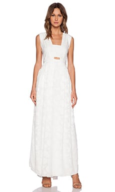 Hunter Bell Clarke Maxi Dress in White Petal