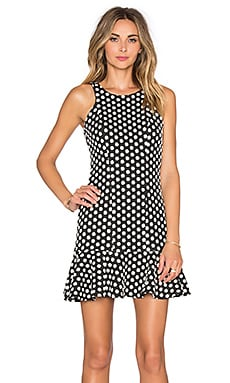 Hunter Bell Tulip Dress in Black Dot