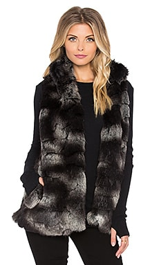 Hunter Bell Caden Faux Fur Vest in Coffee