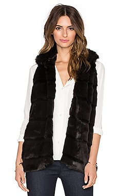 Hunter Bell Caden Faux Fur Vest in Black