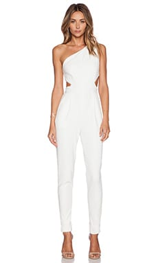 Hunter Bell Kelly Jumpsuit in White Dobby