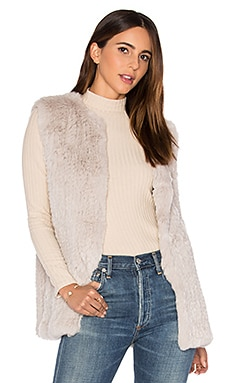 Libby Rabbit Fur Vest