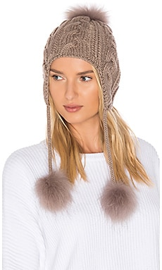 Mona Asiatic Raccoon Fur Beanie