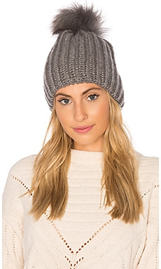 Julie Beanie With Raccoon Fur