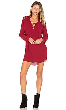 Claudio Dress in Bordeaux