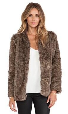heartLoom Tess Faux Fur Coat in Sable