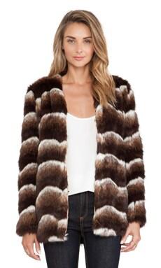 heartLoom Tess Faux Fur Jacket in Coco