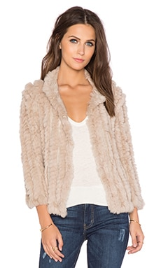 heartLoom Rosa Rabbit Fur Jacket in Wheat