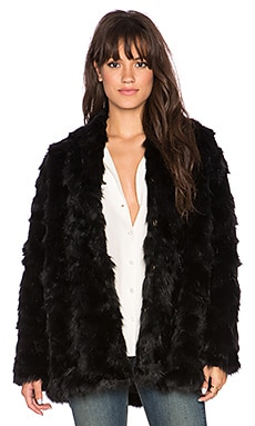 heartLoom Tess Faux Fur Coat in Onyx