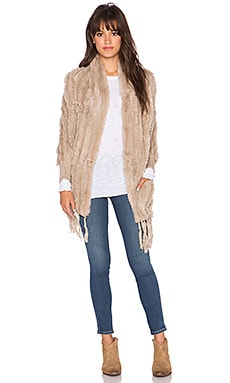 heartLoom Shelby Rabbit Fur Wrap in Putty
