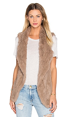 Michi Rabbit Fur Vest in Fawn