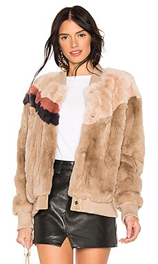 Meg Rabbit Fur Jacket HEARTLOOM $152