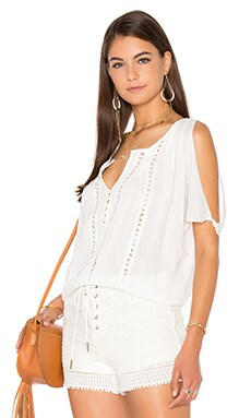 Doria Top in Eggshell