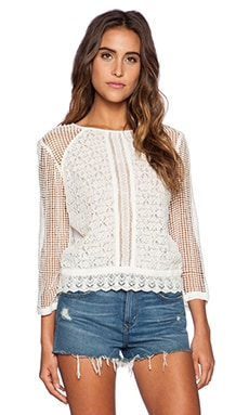 heartLoom Vesey Top in Eggshell