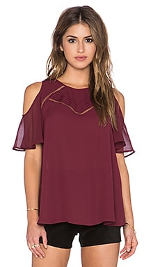 heartLoom Chloe Top in Merlot