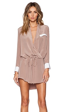 Danielle Mini Dress in Mauve & White