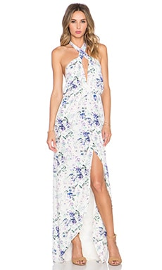 Helena Quinn Mariella Maxi Dress in Soft Floral Print