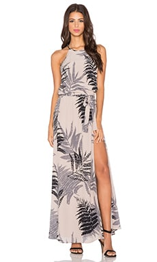 Helena Quinn Mila Maxi Dress in Palm Print