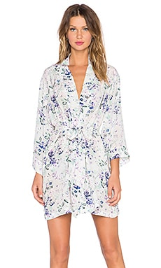 Helena Quinn Kimono Robe Dress in Soft Floral Print