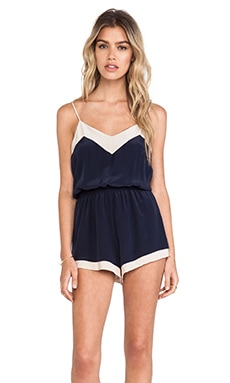 Helena Quinn Romper in Navy & White