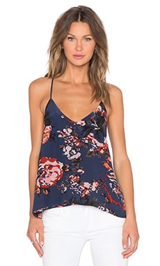 Helena Quinn Christine Tank in Navy Rose Print