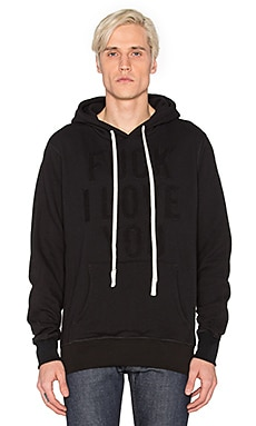Herman Fuck I Love You Hooded Sweatshirt in Black