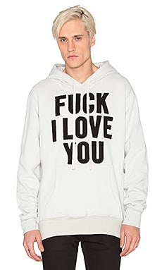 Herman Fuck I Love You Hooded Sweatshirt in Natural