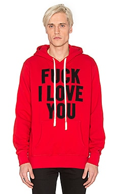 Herman Fuck I Love You Hooded Sweatshirt in Red