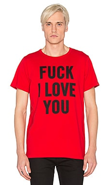Herman Fuck I Love You Tee in Red