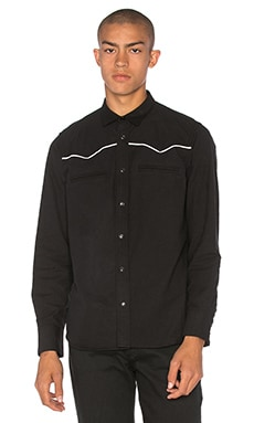 Herman Western Snap Shirt in Black