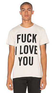 Herman Fuck I Love You Tee in Natural