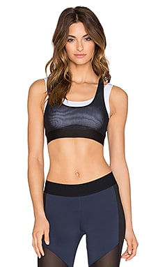 Heroine Sport Racing Bra in Black & White