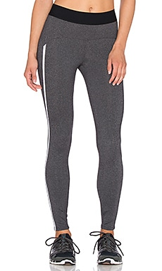 Heroine Sport Studio Pant in Charcoal & White