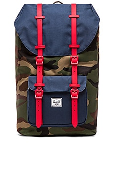 Herschel Supply Co. Little America in Woodland Camo & Navy & Red