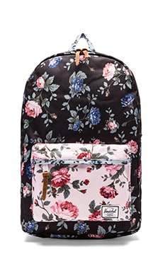 18aa0dc6e49 Herschel Supply Co. Fine China Collection Heritage Backpack in Black Floral    Pink Floral